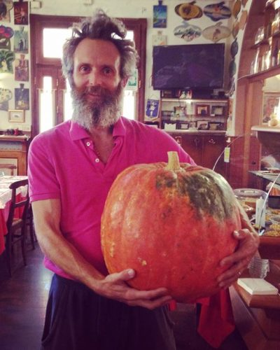 anthony and his pumkin